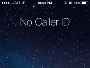 No Caller ID on iPhone